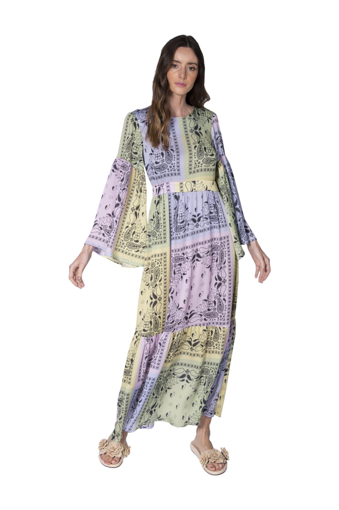 Tee Match - vestido bandana colors manga farta