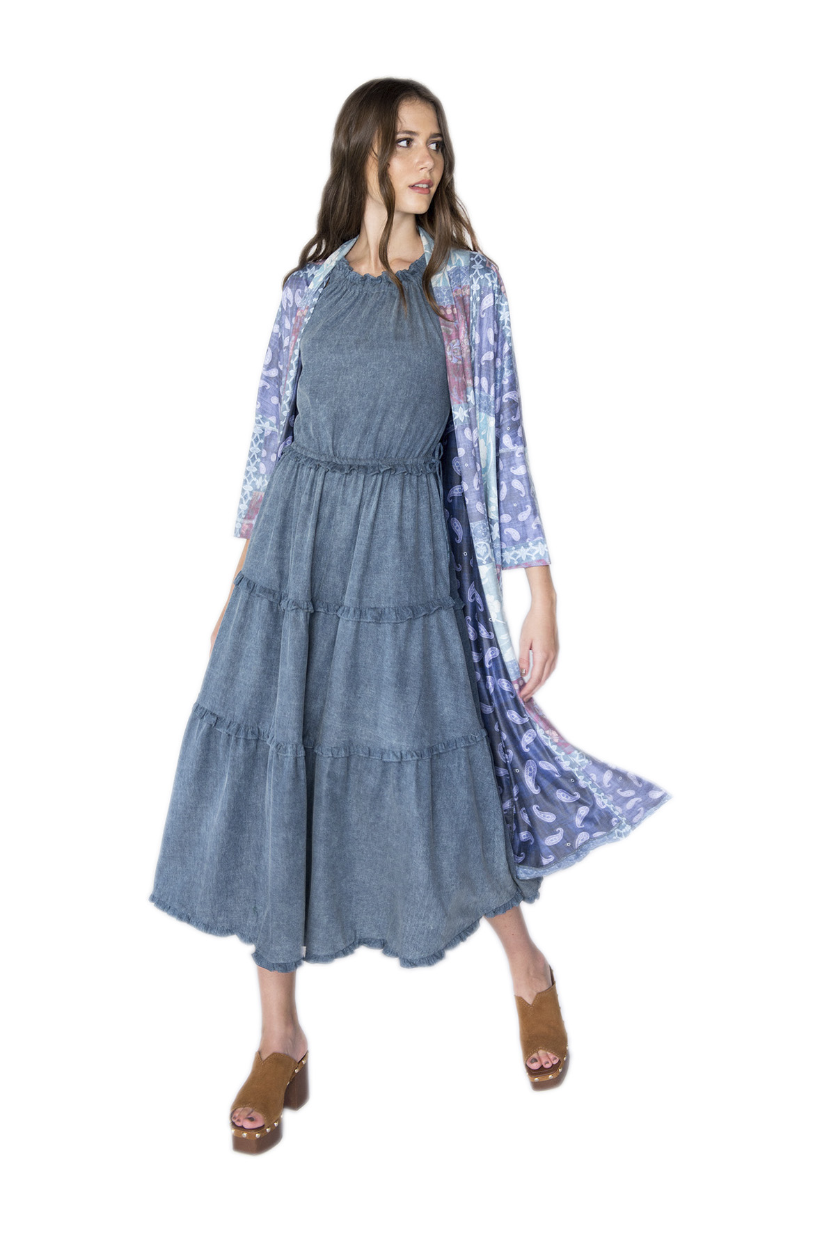Tee Match - MAXI QUIMONO DOUBLE FACE PATCHWORK