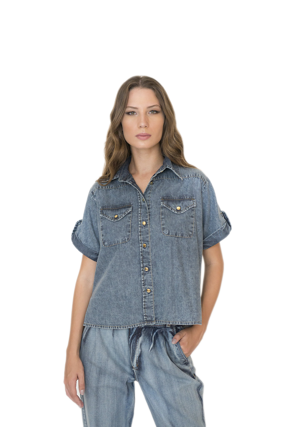 CAMISA CARGO JEANS STONED