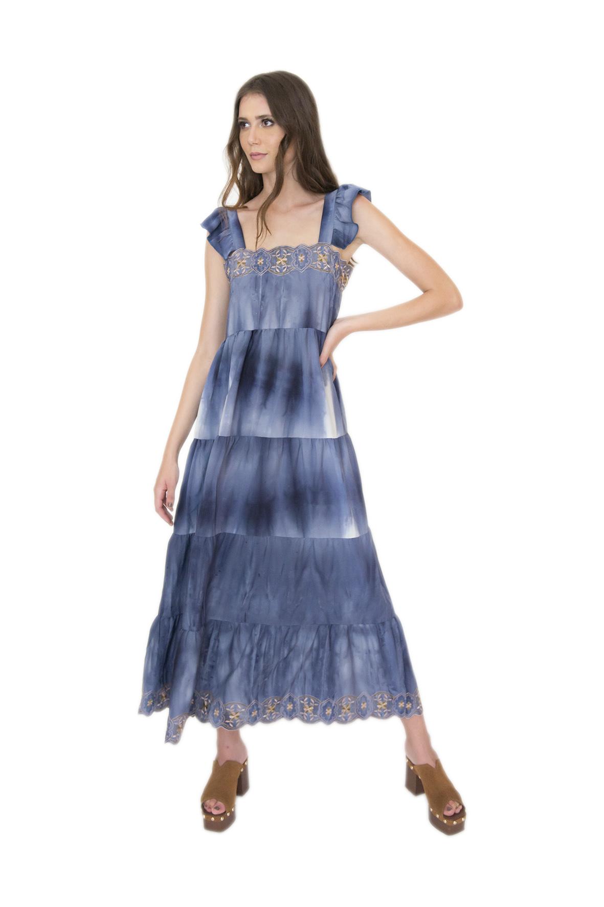 Tee Match - vestido bordado tie dye